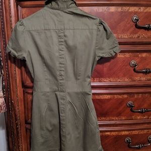 Jessica Simpson tie front shirt dress